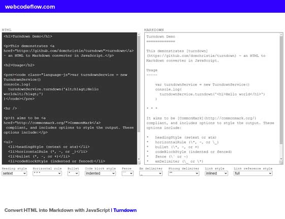 Convert-HTML-into-Markdown-with-JavaScript