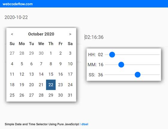 Simple-Date-and-Time-Selector