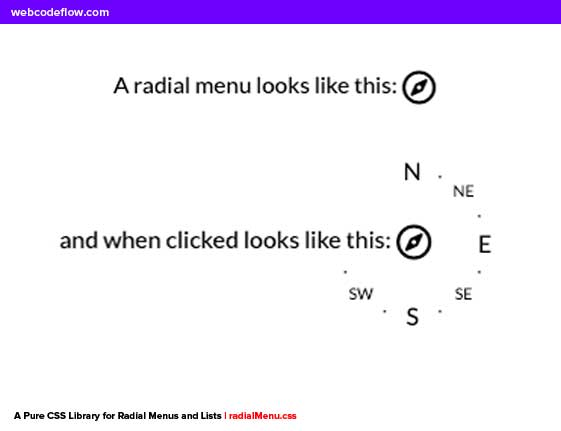 CSS-Library-for-Radial-Menus-and-Lists