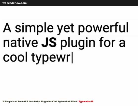 Typewriter-Effect-TypewriterJS