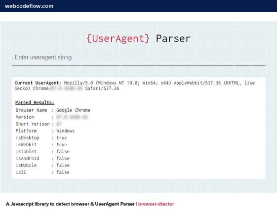 UserAgent-Parser-browser-dtector