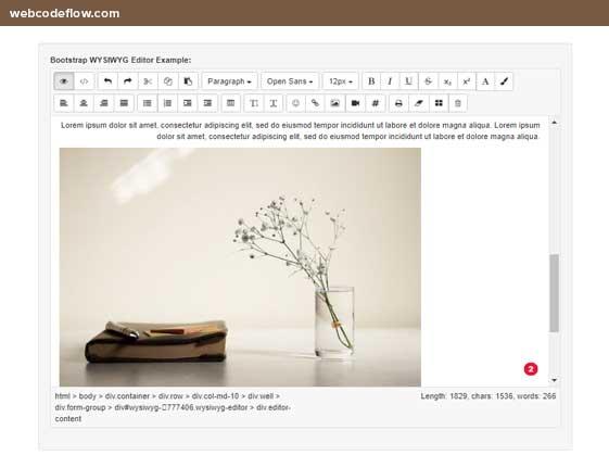 Bootstrap-WYSIWYG-editor-plugin