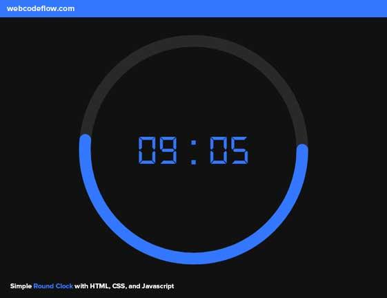 Simple-Round-Clock
