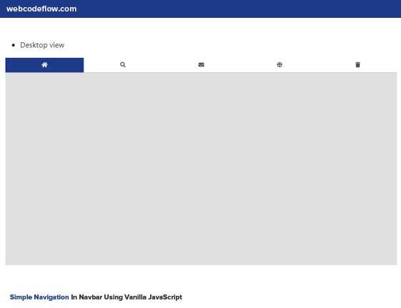 navigation-menu-javascript