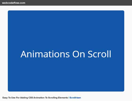 animate-on-scroll-scrollrisen