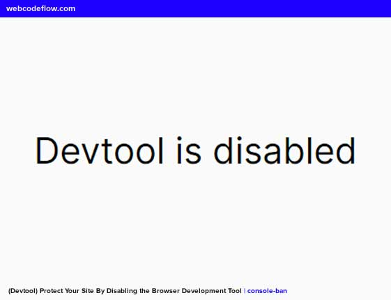 browser-devtool-console-ban
