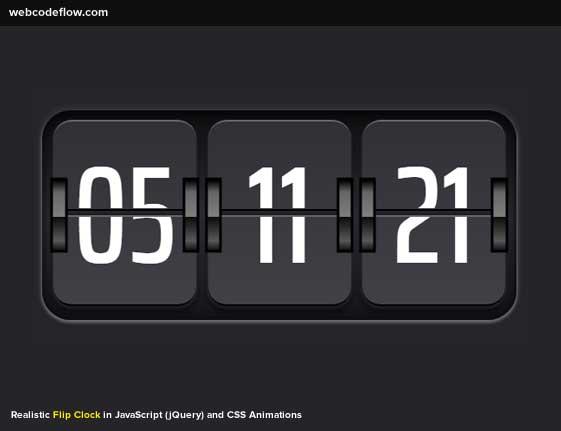 realistic-flip-clock