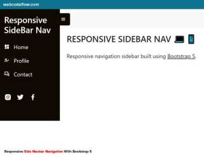 responsive-side-navigation