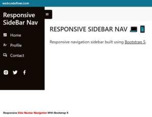 responsive-side-navigation