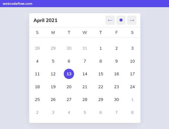 rolyart-calendar-js