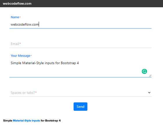 bootstrap-material-input