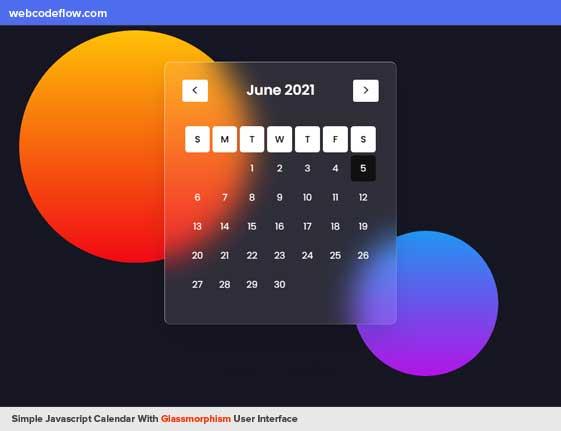 calendar-glassmorphism-ui