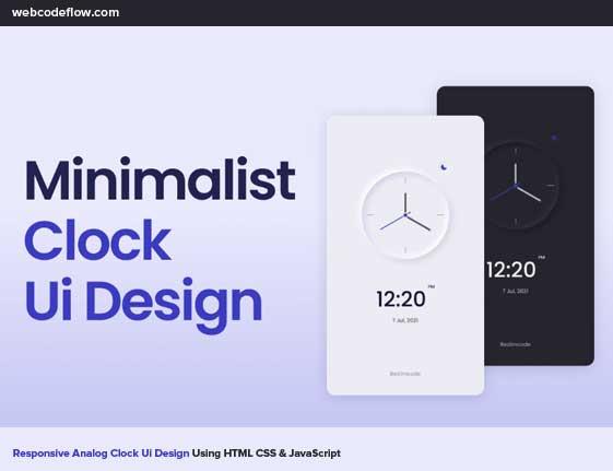 responsive-analog-clock-ui