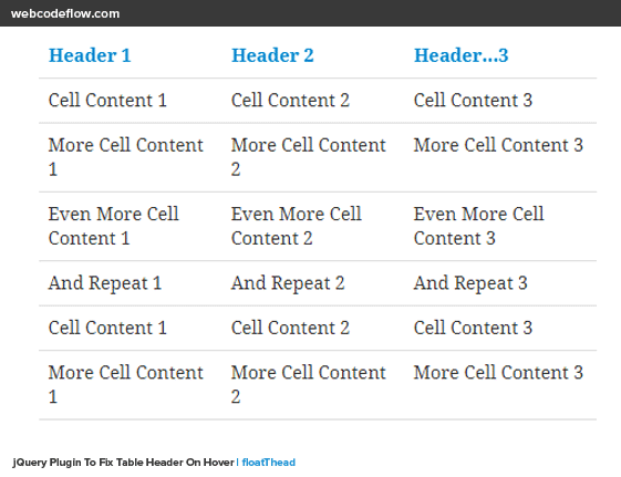 jquery-fixed-table-header