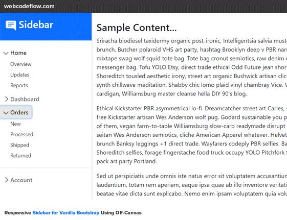 bootstrap-5-offcanvas-sidebar