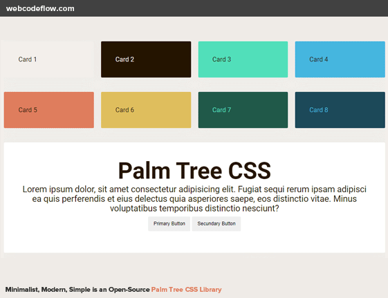 palm-tree-css-library
