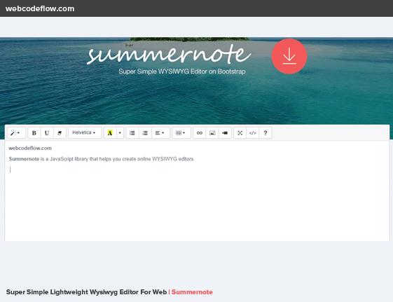 summernote-wysiwyg-editor-free