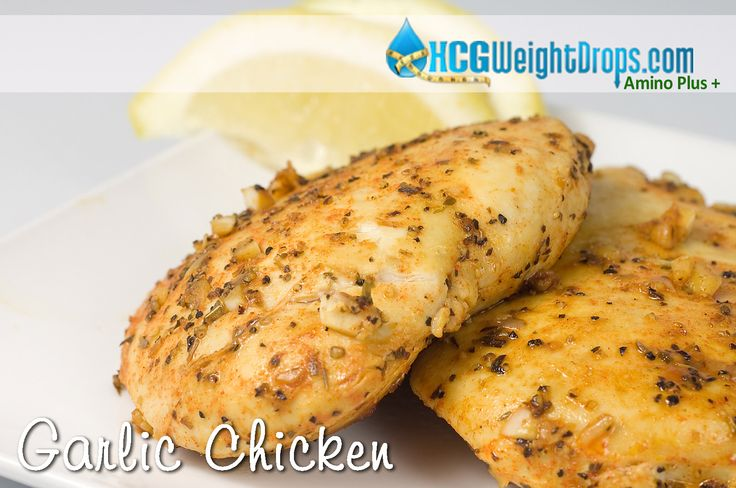 116 calorie Garlic Chicken Recipe. This is a staple for anyone on the HCG Diet!