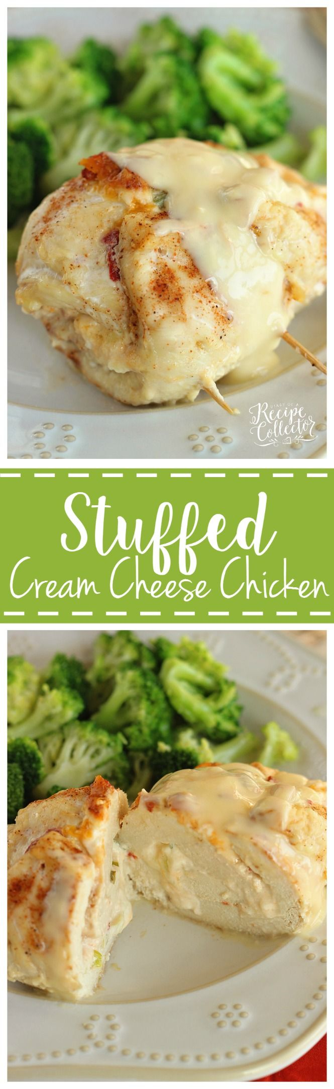 Stuffed Cream Cheese Chicken – Chicken breasts filled and rolled up with a delicious cream cheese spread a