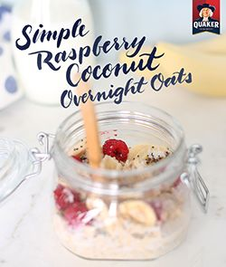 A simple breakfast with the right balance of texture and flavor in every bite! Make Quaker® overnight oat