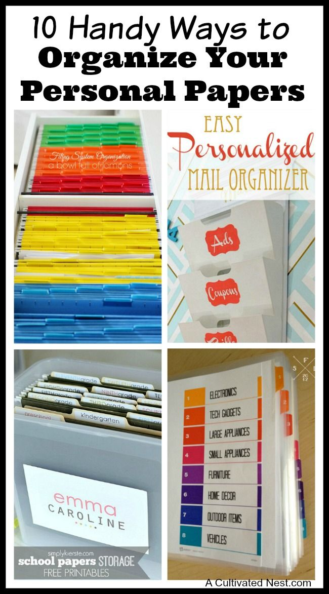 Overwhelmed by all the mail and documents you have to keep organized every day? De-clutter and de-stress y