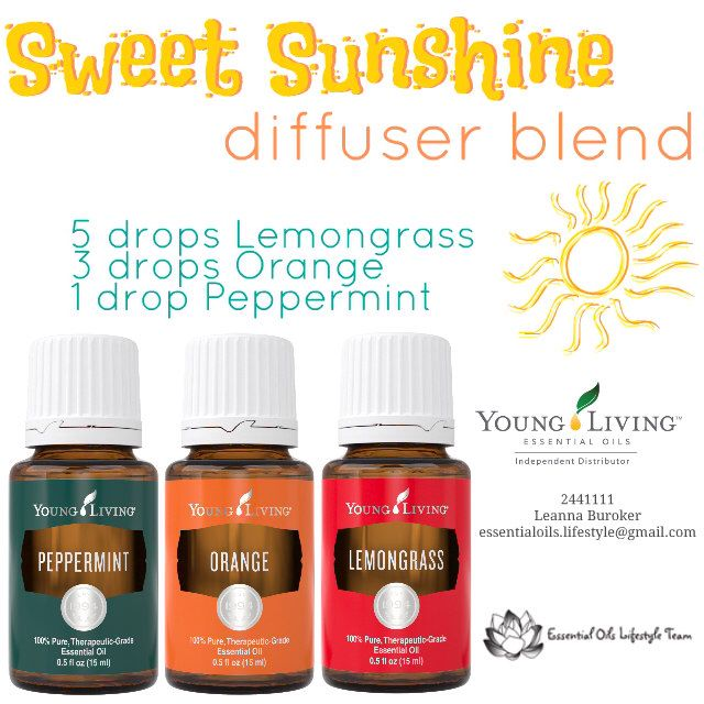 Bring a little sunshine inside.  Young Living Essential Oils diffuser blend from Independent Distributor 2