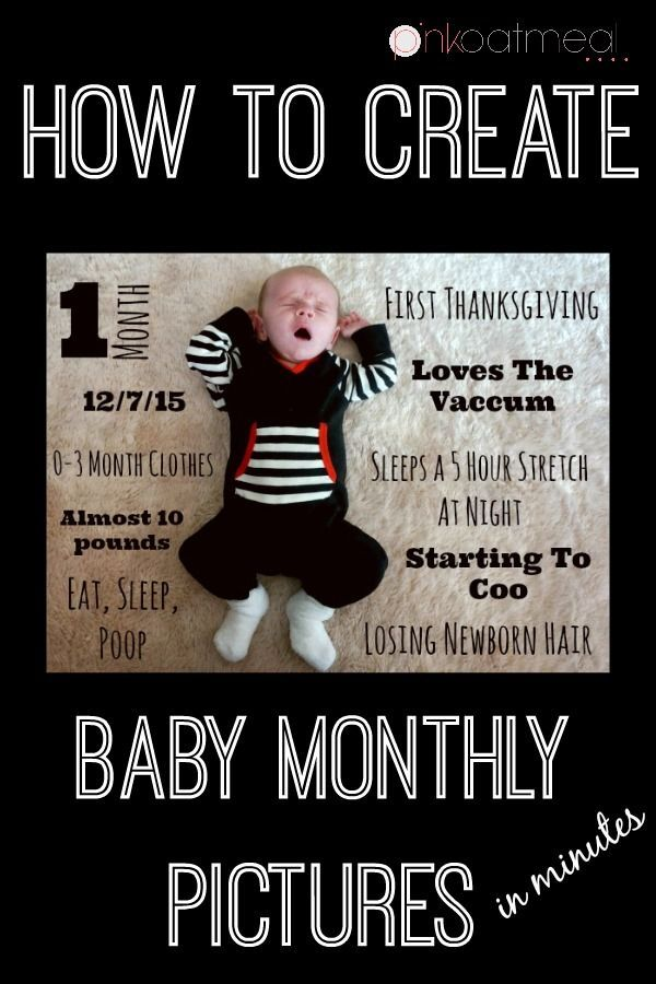 Baby Monthly Pictures.  A easy way to remember monthly milestones for your baby boy or baby girl!  I made