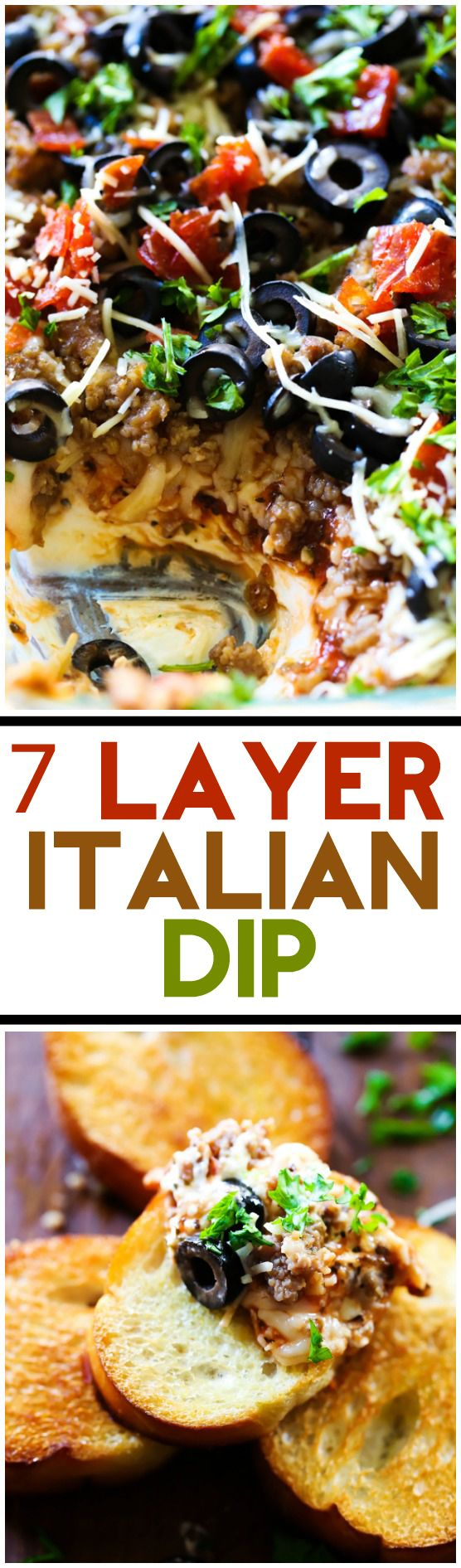 7 Layer Italian Dip… Seven Layers of Italian flavor and ingredient heaven! This will be one appetizer yo