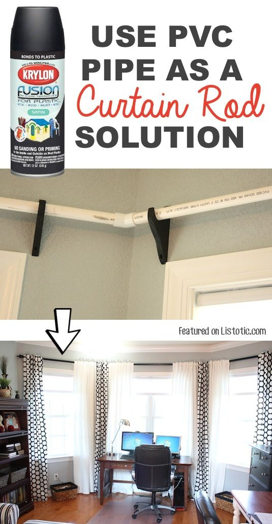 #21. Use PVC pipe to make low-cost curtiain rods! — 29 Cool Spray Paint Ideas That Will Save You A Ton Of