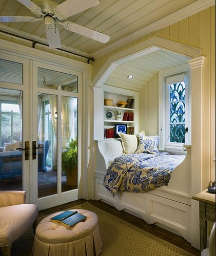 And this Southern-style nook.   22 Things That Belong In Every Bookworm's Dream Home