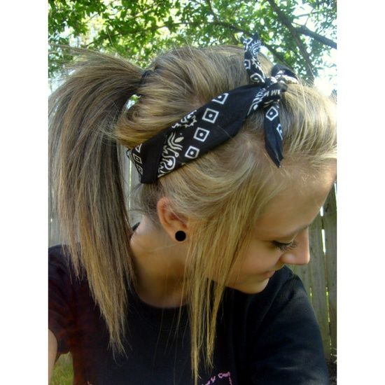 Cute Bandana Hairstyle! – Click image to find more Hair & Beauty Pinterest pins