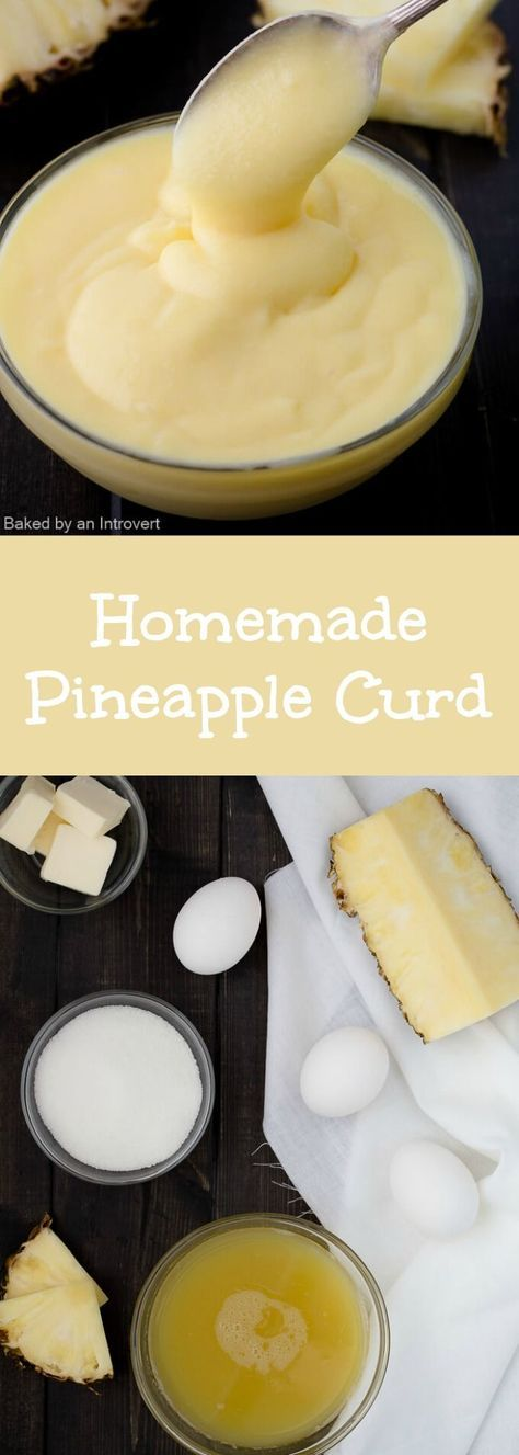 This homemade Pineapple Curd is sweet, creamy, and so easy to make. It takes just a few minutes to whip up