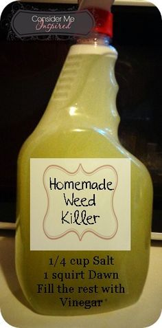Easy enough and not toxic. Make Your Own At Home Weed Killer