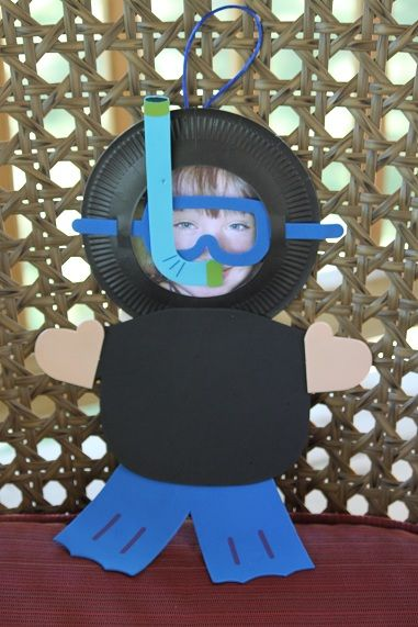 From: Our Crafts ~N~ Things; super cute scuba diver craft activity for kids using a picture of their own f