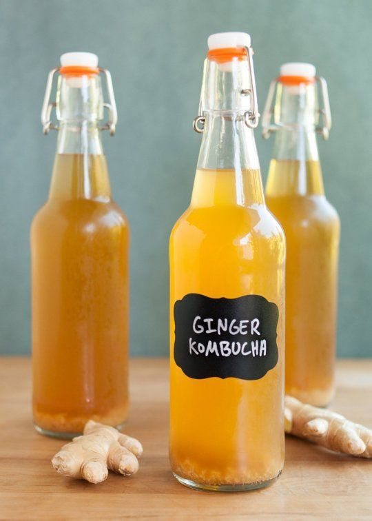 Recipe: Ginger Kombucha — Drink Recipes from The Kitchn   The Kitchn