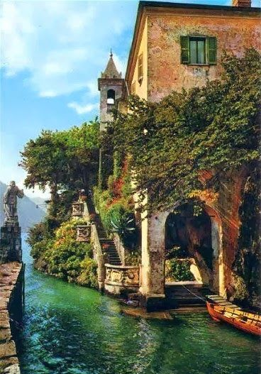Lake Como, Italy Have picture of my mother and cousins in the family palazzo on Lake Como…