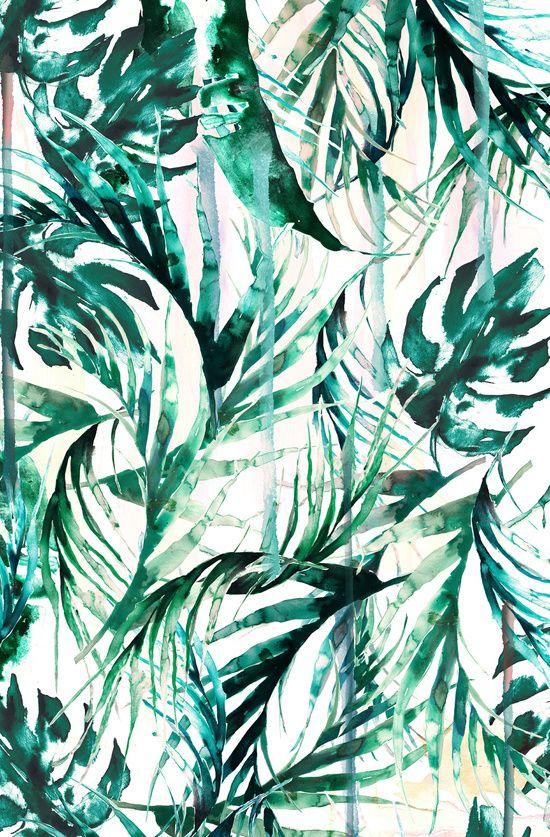 Nikki Strange Green Tropical paradise  Art Print
