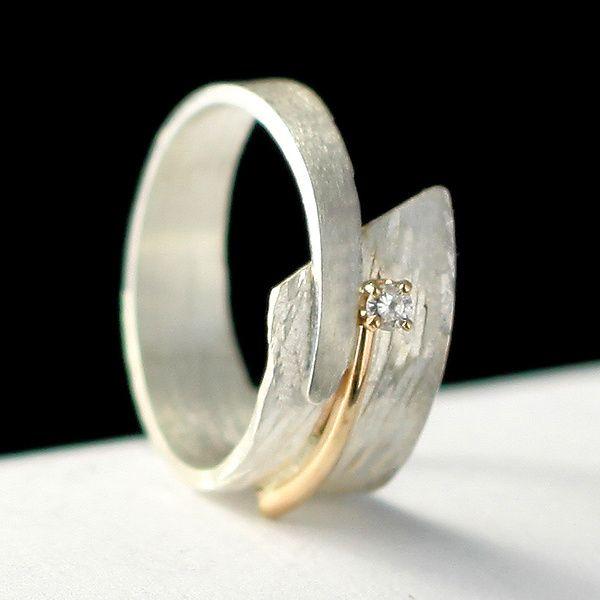 Circle of Love: Dagmara Costello: Gold, Silver & Stone Wedding Band   Artful Home