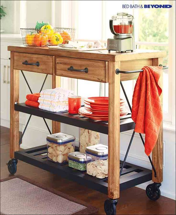A rolling cart can be a blessing in the kitchen or any space where you need a little more storage. They ad