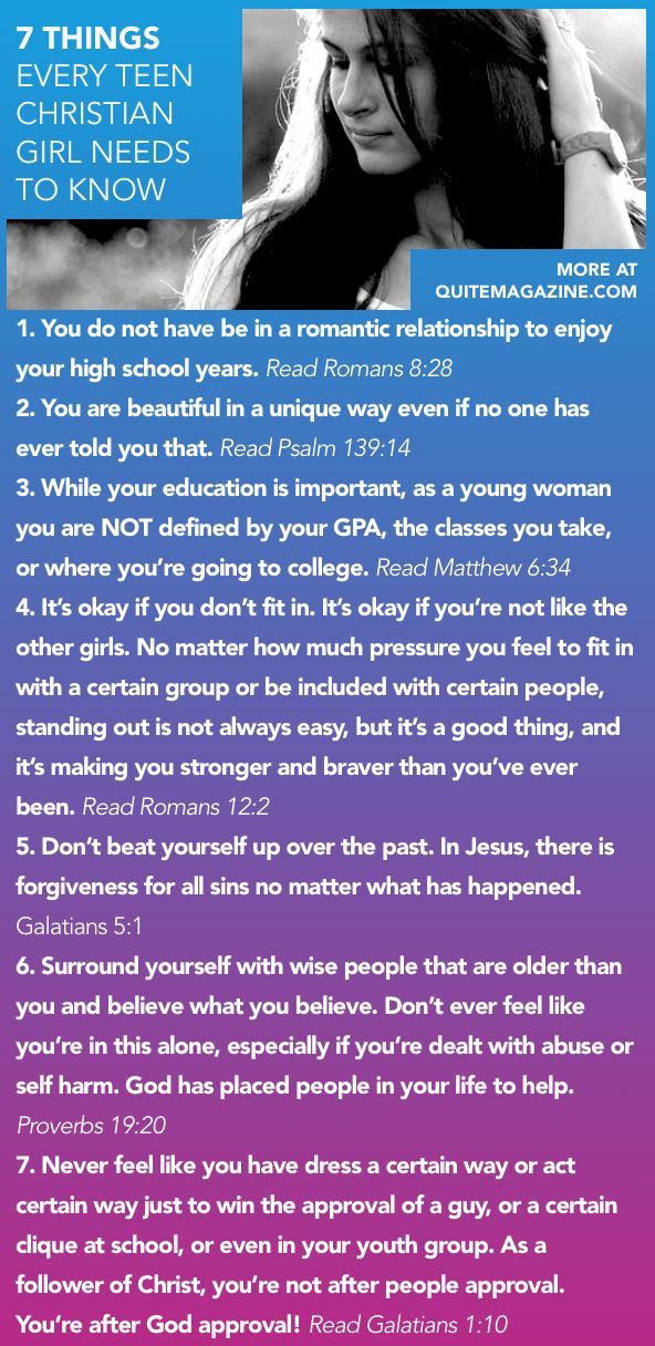 7 Things Every Teen Christian Girl Needs to Know // advice for young christian women girls bible verses st