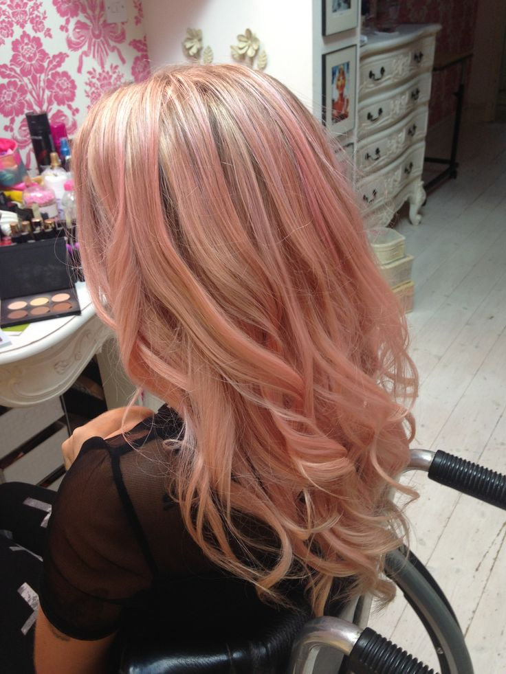 rose gold highlights blonde – Google Search