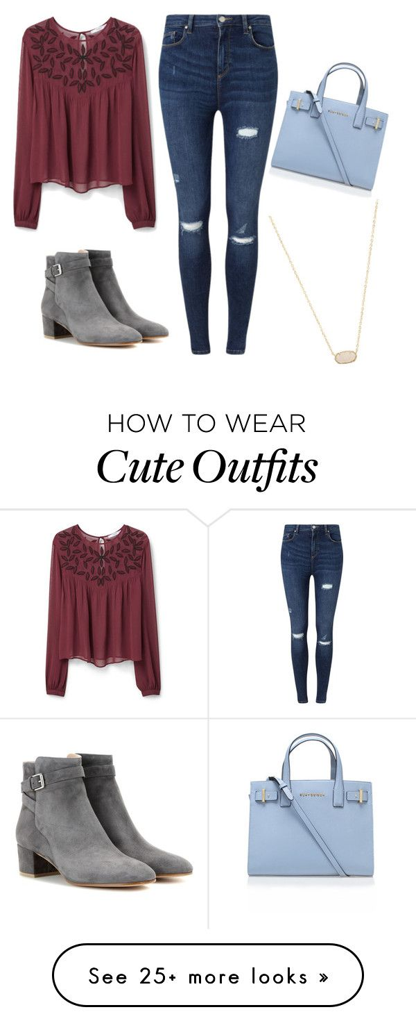 """Cute fall outfit"" by maryella-1 on Polyvore featuring MANGO, Miss Selfridge, Kurt Geiger, Gianvito Rossi,"