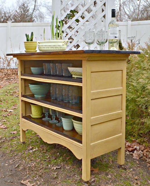 cool An Antique Dresser Turned Kitchen Island