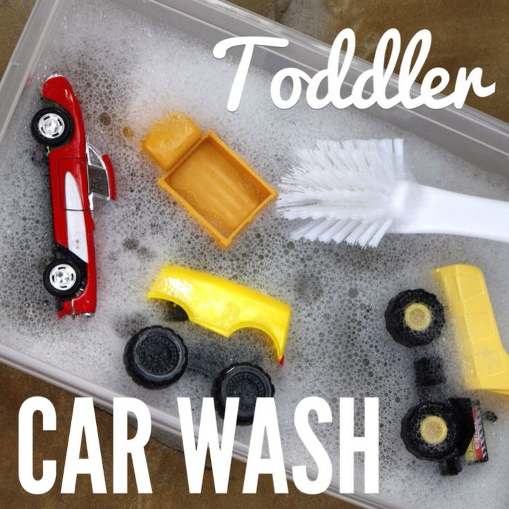 Have your very own toddler car was. We do this in preschool and the kids love it! They also  like to wash