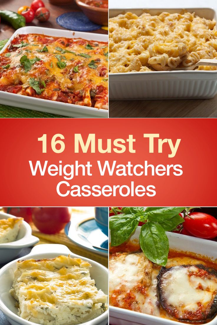 16 Must Try Weight Watchers Casserole Recipes including Chicken Taco Casserole, Cheesy Squash, Chicken and