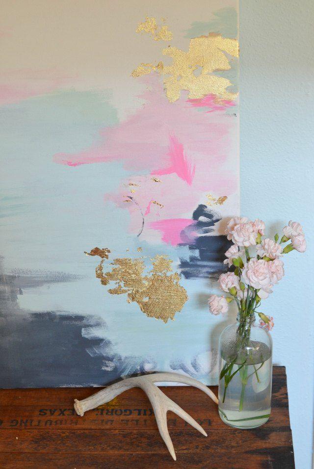 Tutorial Tuesday: DIY Gold Artwork – Lifestyle Blogger | Interior Design Blogger – Katrina From The Bloc
