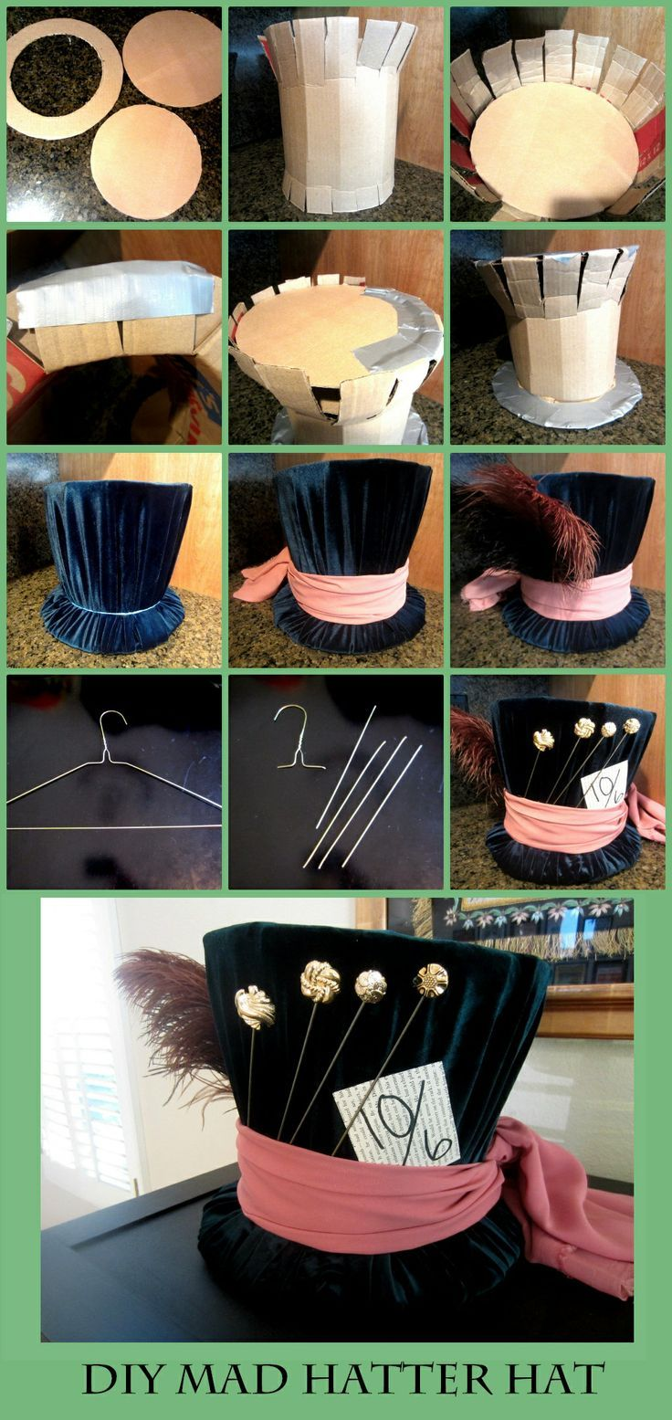DIY Mad Hatter hat from Alice In Wonderland – Just in case I decide to go as him for halloween thi