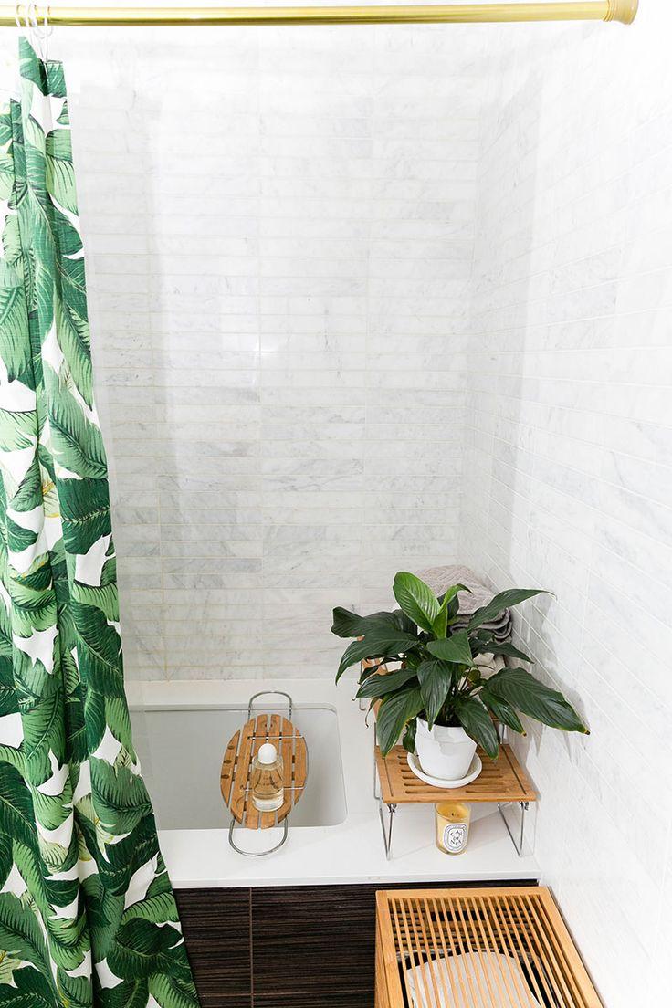 gold rod + banana palm fabric