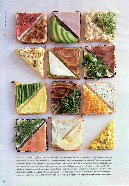 tea sandwiches  #smoothestdayever