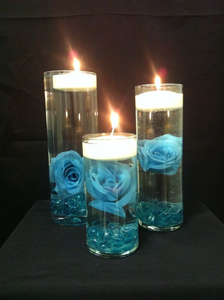 images of turquoise wedding classical centerpieces decor